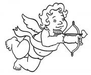 Printable Little Cubby Boy Cupid coloring pages