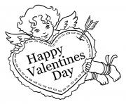 Printable valentine sweet cupid coloring pages
