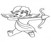 Printable God of Love Cupid Valentines coloring pages