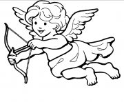 Printable cupid pic coloring pages
