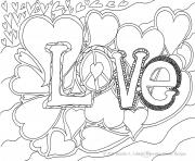 Printable Cute Love for Adults coloring pages