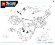 Printable Lego Nexo Knights LE REPAIRE VOLCANIQUE DE JESTRO 3 coloring pages