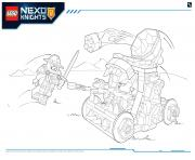 Printable Lego Nexo Knights LE REPAIRE VOLCANIQUE DE JESTRO 2 coloring pages