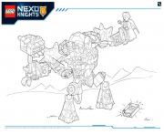 Printable Lego Nexo Knights LE REPAIRE VOLCANIQUE DE JESTRO 4 coloring pages