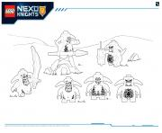 Printable Lego Nexo Knights LE REPAIRE VOLCANIQUE DE JESTRO 7 coloring pages