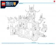Printable Lego Nexo Knights LE REPAIRE VOLCANIQUE DE JESTRO 1 coloring pages