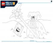 Printable Lego Nexo Knights LE REPAIRE VOLCANIQUE DE JESTRO 5 coloring pages