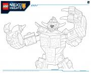 Printable Lego Nexo Knights LE REPAIRE VOLCANIQUE DE JESTRO 6 coloring pages