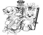 Printable paw patrol super pups coloring pages