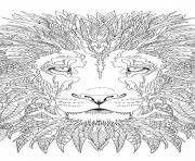Printable lion adult coloring pages
