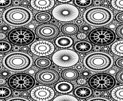 Printable patterns circles adult zen coloring pages