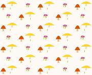 printable nursery mushroom pattern paper wrapping coloring pages