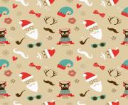 24477358 Vector Christmas Hipster Vintage Seamless Pattern Background Stock Vector coloring pages