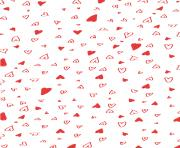 Printable Hand Drawn Valentines Day Wrapping Paper coloring pages