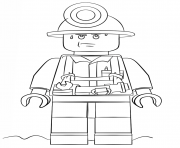 Print lego miner police coloring pages
