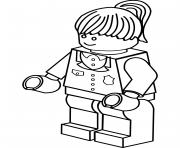 Print lego police woman coloring pages