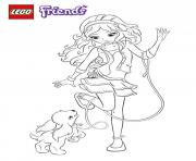 Print lego friends dog coloring pages