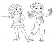 Print lego friends having fun coloring pages