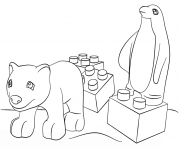 Printable lego friends animals coloring pages