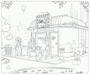 Print lego friends cafe coloring pages