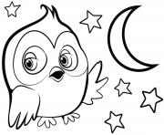 Printable cute owl for girls coloring pages