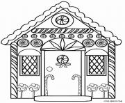 Printable Detailed Gingerbread House coloring pages