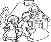 Print Gingerbread House 12 coloring pages