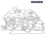 Print Gingerbread House 8 coloring pages