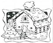 Print Gingerbread House 9 coloring pages