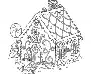 Print Gingerbread House Candy coloring pages