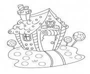 Print Gingerbread House Contest coloring pages