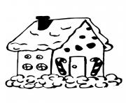 Print Holiday Gingerbread House coloring pages