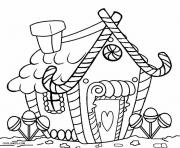 Print Printable Gingerbread House 1 coloring pages