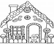 Printable Gingerbread House 3 coloring pages