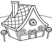 Printable Candy House coloring pages