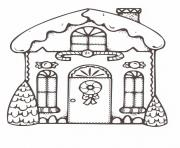 Printable Christmas Gingerbread House 1 coloring pages
