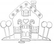 Printable Gingerbread House 2 coloring pages