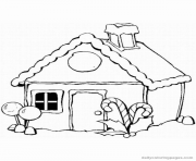 Print Gingerbread House 4 coloring pages