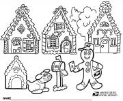 Print Gingerbread House 7 coloring pages