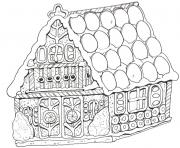 Printable Gingerbread House 10 coloring pages