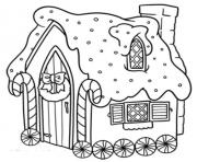 Print Gingerbread House 3 coloring pages