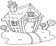 Print Gingerbread House 5 coloring pages