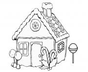 Gingerbread House Page Coloring Sheets coloring pages