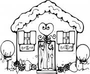 Print Gingerbread House coloring pages