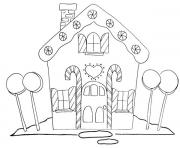 Print Christmas Gingerbread House 2 coloring pages