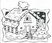 Print Gingerbread House 11 coloring pages