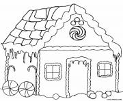Print Gingerbread House 13 coloring pages