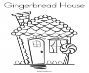 Gingerbread House 3 coloring pages