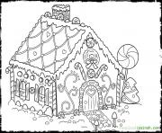 Gingerbread House 4 coloring pages