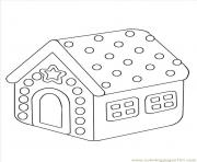 Print Gingerbread House 6 coloring pages